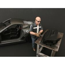 """CHOP SHOP"" MR.FABRICATOR FIGURE FOR 1:18 SCALE MODELS BY AMERICAN DIORAMA 38160"