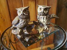 Gorgeous pair vintage Homco Home Interior owl figurines