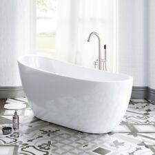 Woodbridge 54''  Freestanding Bathtub with Brushed Nickel Overflow and Drain