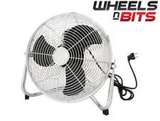 """30cm 12"""" Inch High Velocity Floor Fan, Electric Fan, Cooling Fan, Chrome 55WATT"""