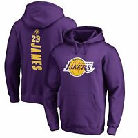 LeBron James Los Angeles Lakers Fanatics Branded Backer Pullover Hoodie - Purple