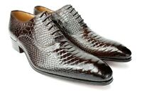 Ivan Troy Brown George Cro Handmade Men Italian Leather Dress Shoes/Oxford Shoes