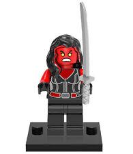 SHE-HULK ROSSO minifigura lego si adatta
