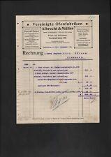 HILDESHEIM, Rechnung 1919, Albrecht & Müller Vereinigte Ofen-Fabriken
