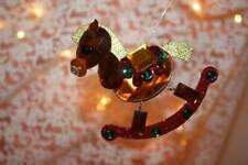 "Christmas Ornaments 3"" Rocking Horse Acrylic Crystal Suncatcher by Ganz"