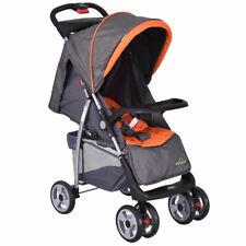 Baby Travel Stroller Newborn Infant Buggy Pushchair Folding Design Grey Gray