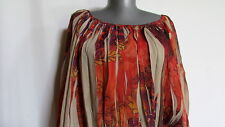 New NWOT ny collection woman fall leaves orange purple brown boho tunic l xl 2x