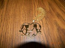 ICP HATCHETMAN n HATCHETGIRL LOVE Gold tone pendant w/ gold tone ball chain