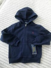 Ralph Lauren Polo Blue Navy Zip-Up Hoodie Age 5 Boys / Girls Navy