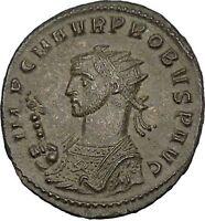 PROBUS 280AD Serdica mint Ancient Roman Coin SOL Sun Cult Horse Quadriga  i52081