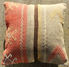 (40*40cm, 16inch) Boho style vintage kilim cushion cover striped pastels