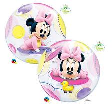 Palloncino Qualatex Bubbles Baby Minnie 56 cm