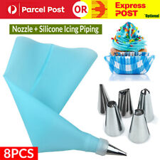 6pcs Nozzle + Silicone Icing Piping Cream Pastry Bag Set Cake Decorating Tool