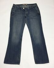 Melrose jeans donna usato bootcut zampa loose w32 tg 46 retro blu denim T3374