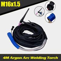4M Argon Arc Welding Torch Gun Head Welder Silica Gel Pipe with Cable  @!%