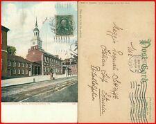 Indipendence Hall Philadelphia postcard 1907
