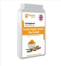 Prowise Organic Turmeric Curcumin With Organic Black Pepper 600mg x120 Capsules