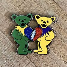 They Love Each Other Bears Pin - Green and Yellow
