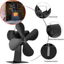 Quiet Stove Fireplace Fan Heat Powered 4 Blade For Wood Log Fire Burner Ecofan