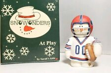 Snowonders Touchdown Snowman Figurine by Sarah's Attic New Football Snowman