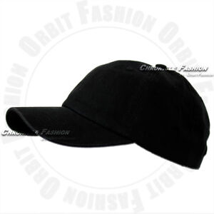 Cotton Baseball Cap Adjustable Washed Polo Style Hat Plain Solid Blank Dad Men
