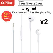 iPhone Headphone Earphone For iPod iPhone 5 6 6s iPad Samsung With Mic Remote x2