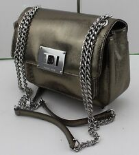 NEW AUTHENTIC MICHAEL KORS SLOAN NICKEL SHOULDER FLAP CROSSBODY HANDBAG WOMEN'S