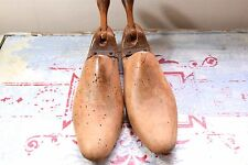 VINTAGE SHOE TREES - OLD WOODEN SHOE TREES - WOODEN SHOE FORMS - HOME DECOR
