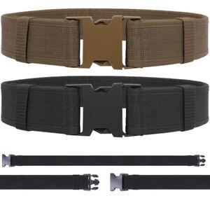 Tactical Duty Belt Heavy Duty Utility Webbing Police Security Military Work Swat