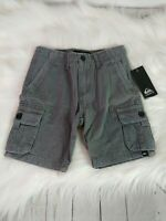 Quiksilver Toddler Boys Shorts Size 3T, Gray Cargo NEW
