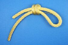 """Brooch * Large 3.5"""" Christian Dior Runway Couture Rope"""