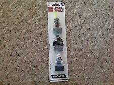 New Lego Star Wars 3 Pack Magnets. Kit Fisto,, Barriss Offee, Caotain Jag 852947