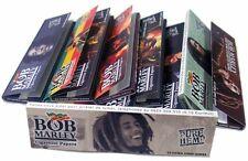 5 PACKS BOB MARLEY KING SIZE cigarette rolling papers pure hemp 33 leaves per pk