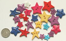 No 29 Novelty Buttons - 20 Bright Stars - Scrapbooking Sewing Craft