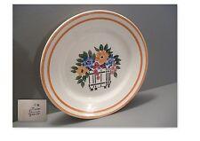 """belle assiette ancienne en faience de creil-montereau""""modele fleuri"""""""