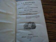 OEUVRES DE WALTER SCOTT - 1838  LA FIANCEE DE LAMMERMOOR UNE LEGENDE DE MONTROSE