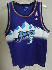 Vtg NBA Utah Jazz Champion Bryon Russell # 3 Youth XL Jersey MEXICO MADE