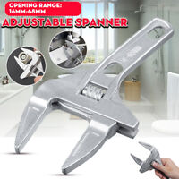 Adjustable Large Wrench 16-68mm Big Opening Bathroom Spanner Nut Key Hand Tool