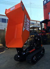 SYDNEY MACHINERY HIRE TIGHT ACCESS HIGH TIP TRACKED DUMPER DRY HIRE WITH TRAILER