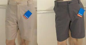 "NWT Columbia Men's Viewmont Stretch Shorts 10"" Inseam AX2991 Tan or Gray Flat"