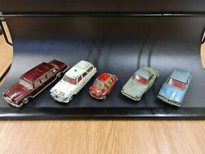 Job Lot of 5 Vintage Lesney Matchbox/Corgi heinkel Ford Renault222 rover2000