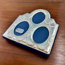 New Carrs English Sterling Silver Photo / Picture Frame 3 Photos - No Monogram