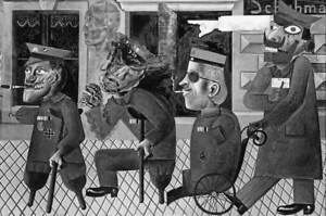 Otto Dix War Cripples Poster Reproduction Paintings Giclee Canvas Print