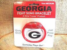 UNIVERSITY GEORGIA BULLDOG FIGHT SONG BRACELET RED & BLACK~(MEDIUM)~NEW CARDED