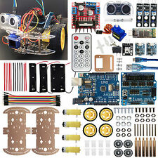 For Arduino Robot Car Kit AndroidAutonomous Bluetooth Obstacle Avoid Follow Line