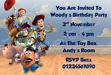 Personailsed Toy Story 1 2 3 Birthday Party Invitations - Pack of 12
