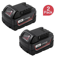 2PCS Replace For Milwaukee M18 Lithium XC 5.0Ah Battery 48-11-1850 48-11-1852
