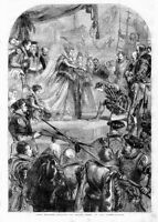 QUEEN ELIZABETH KNIGHTING SIR FRANCIS DRAKE ENGLISH ADMIRAL SEAMAN MARITIME