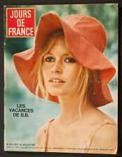 'JOURS DE FRANCE' MAGAZINE HOLIDAY ISSUE BRIGITTE BARDOT COVER 24 JULY 1965