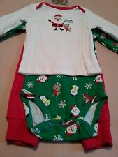 Holiday Winter Santa 3-Piece Set Long Sleeve Infant Boy's size 3-6 Months NWT